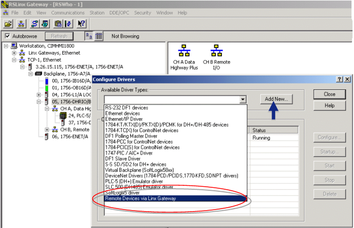 Step 1  Add the Allen Bradley Driver in RS Linx
